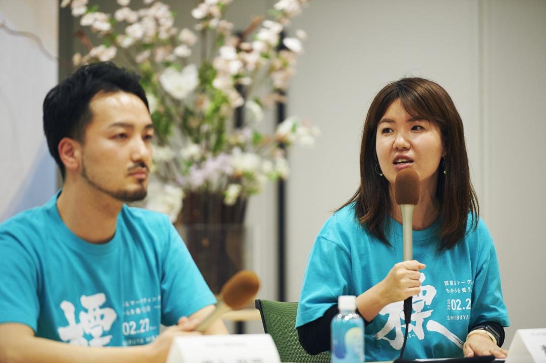 セッション風景_「仕事をしていて当たった壁」について語る青木氏、井上氏