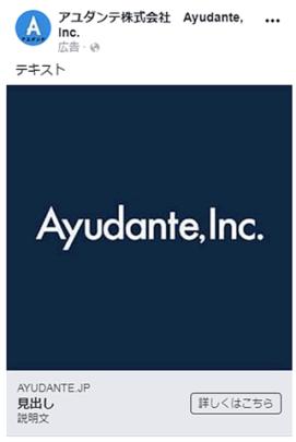 Facebook広告フォーマットのシングル広告イメージ画像