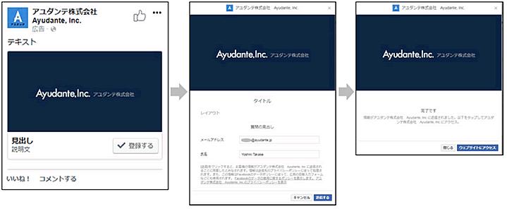 ランディングページのフォーマットのリード獲得広告のイメージ画像