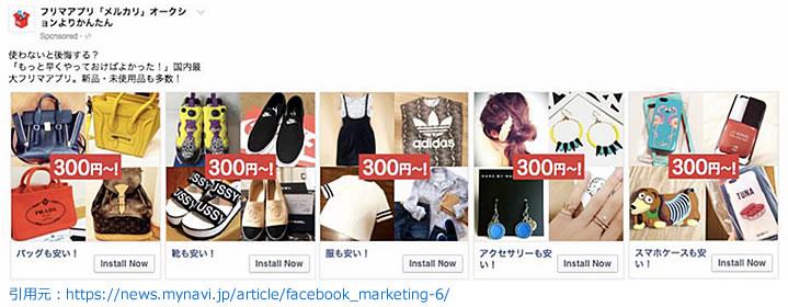 フォーマットの使い分けカルーセル広告・コレクション広告の場合(EC)