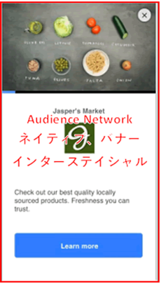 Audience Network広告の表示例