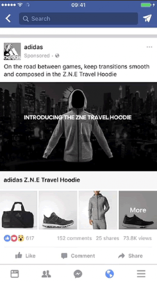 Facebook広告のコレクション広告