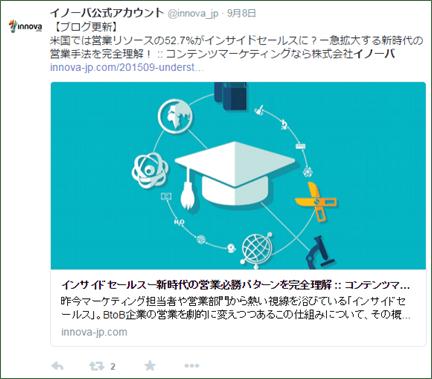 Twitterカード×コンテンツマーケティングの事例(イノーバ)